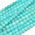 Grade A Natural Gemstone Amazonite Round Beads Strands, 12mm, Hole: 1mm; about 33pcs/strand, 15.7