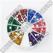 6 Color Faceted Flat Round Imitation No Hot-Fix Taiwan Acrylic Rhinestone Cabochons, Mixed Color, 4mm in diameter, 1mm thick