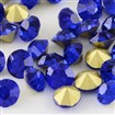 Vintage Grade A Glass Pointed Back Chaton Rhinestones, Back Plated, Diamond, Sapphire, 1.6~1.7mm; about 144pcs/gross