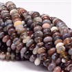 Natural Botswana Agate Beads Strands, Abacus, 8mm in diameter, 4~5mm thick, hole: 1mm, approx 70~74 beads / strand