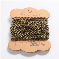 Iron Ball Chains, Unwelded, Lead Free and Nickel Free, Antique Bronze Color, Bead: about 2mm in diameter