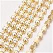Brass Rhinestone Strass Chains, Rhinestone Cup Chain, 1440pcs rhinestone/bundles, Grade A, Crystal AB, chains 3mm wide