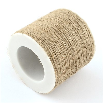 Hemp Cord Twine String, 1 Ply, for Jewelry Making, Tan, 1mm; about 100