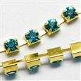 1440pcs rhinestone/bundles, Grade A, Blue Zircon,chains 3mm wide(CHC-S12-03C)