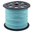 Defective Closeout Sale. Faux Suede Cord, Aqua,3mm wide, 1.5mm thick(Clearance-LW-33Y)