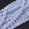 Round Natural Blue Lace Agate Bead Strands, 8mm, Hole: 1mm about 50pcs/strand, 15.5