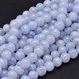 """Round Natural Blue Lace Agate Bead Strands, 8mm, Hole: 1mm about 50pcs/strand, 15.5""""(K-G-F289-27-8mm)"""