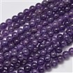 Natural Amethyst Round Bead Strands, 8mm, Hole: 1mm; about 50pcs/strand, 15.5
