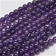 """Natural Amethyst Round Bead Strands, 8mm, Hole: 1mm; about 50pcs/strand, 15.5""""(K-G-M304-18-8mm)"""