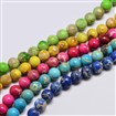 Round Natural Regalite Beads, Dyed, Mixed Color, 8mm in diameter, hole: 1mm