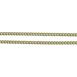 Brass Twisted  Chains Curb Chains, Nickel Free, Oval, Antique Bronze, Size: Chains: about 1.5mm long, 1mm wide, 0.35mm thick