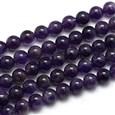 """Natural Amethyst Round Bead Strands, Grade AB, 8mm, Hole: 1mm; about 48pcs/strand, 15.74""""(K-G-L170-8mm-01)"""