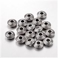 Tibetan Style Spacer Beads, Lead Free & Cadmium Free, Flat Round, Antique Silver, 8mm in diameter, 3mm thick, hole: 2.5mm(TIBEB-R011-AS-LF)