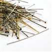 Iron Headpins,Nickel Free, Mixed Color, 50mm long, 0.7mm thick, approx 5000pcs/1000g