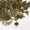 Tiben Style Pendants, Nickel Free, Tree Of Life, Antique Bronze, 10~61mm wide, 12~79mm long, 1~5mm thick, hole: 1.5~5mm