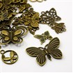 Tibetan Style Pendants, Nickel Free, Butterfly, Antique Bronze, 10~47mm wide, 10~75mm long, 1~3mm thick, hole: 1~5mm