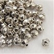 Tibetan Style Bead Spacers, Lead Free & Nickel Free & Cadmium Free, Bicone, Antique Silver, 5mm in diameter, 4.5mm thick, hole: 1mm