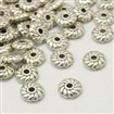 Tibetan Style Spacer Beads, Lead Free & Nickel Free & Cadmium Free, Gear, Antique Silver, 6mm in diameter, 2mm thick, hole: 1mm