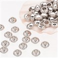 Tibetan Style Spacer Beads, Lead, Nickel & Cadmium Free, Rondelle, about 5-5.5mm wide, hole: 2.3mm(AB937-NF)