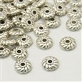 Tibetan Style Spacer Beads, Lead Free & Nickel Free & Cadmium Free, Gear, Antique Silver, 6mm in diameter, 2mm thick, hole: 1mm(LF10764Y-NF)