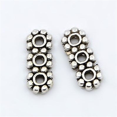 Tibetan Style Spacer Bars, Nickel Free, 3-Hole