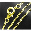 Brass Chain for Necklace Making, Golden Color, Chain: 1.5mm wide, 2mm long; approx 17-18