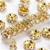 Brass Rhinestone Beads, Grade