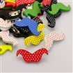 Lovely Iron Back Bar Pin Polka Dot Printed Wood Mustache Brooches, Beard, Mixed Color, 38mm wide, 16mm long, 3mm thick; pin: 0.6mm