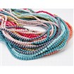 Glass Pearl Beads Strands, Pearlized, Round, Mixed Color, 3mm in diameter, hole: 1mm
