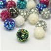 Chunky Resin Rhinestone Beads, Resin Round Beads, Mixed Color, 12mm in diameter, hole: 3mm