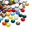 Glass Flat Back Rhinestone, Grade A, Back Plated, No Hot-Fix, Faceted, Flat Round, Mixed Color,3~3.2mm in diameter