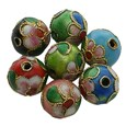 Cloisonne Beads, Round, Mixed Color, 10mm(CLB10MM-M)