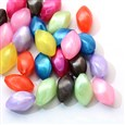 Pearlized Acrylic Beads, Twist Rice Beads, Mixed Color, 19~20mm long, 11mm in diameter, hole: 1.5mm(MACR-S791-11X19MM-M)