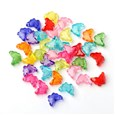 Transparent Acrylic Beads, Bead in Bead, Butterfly, Mixed Color, 11mm long, 15mm wide, 6mm thick, hole: 2mm(TACR-S102-M)