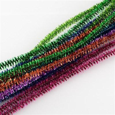 Tinsel Decoration DIY Chenille Stem Metallic Tinsel Garland Craft Wire