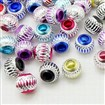 Aluminum Beads, Round, Mixed Color, 12mm in diameter, hole: 6mm
