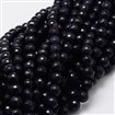 Faceted Round Blue Goldstone Bead Strands, 8mm in diameter, hole: 1mm