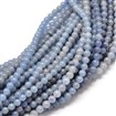 Natural Blue Aventurine Round Bead Strands, Dyed, 8mm, Hole: 1mm