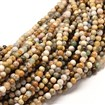 Natural Ocean Jasper Round Bead Strands, 8mm in diameter, hole: 1mm