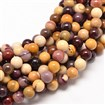 Natural Mookaite Round Bead Strands, Undyed, 6mm in diameter, hole: 1mm