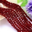 Faceted Round Imitation Austrian Crystal Glass Bead Strands, Grade AAA, Brown, 6mm in diameter, hole: 1mm