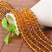 Faceted Abacus Imitation Austrian Crystal Glass Bead Strands, Grade AAA, Goldenrod, 6mm in diameter, 4mm thick, hole: 1mm