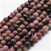 Natural Rhodonite Beads Strands, Round, 8mm, Hole: 1mm; about 44pcs/strand, 14.9