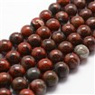 Natural Brecciated Jasper Bead Strands, Round, 6mm, Hole: 1mm; about 61pcs/strand, 14.9