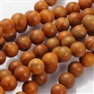 Natural Wood Lace Stone Bead Strands, Round, 4mm in diameter, hole: 0.5mm, approx 80~90 beads / strand, 13.4~14.6