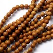 Gemstone Beads Strands, Wood Lace Stone, Round, 8mm in diameter, hole: 1mm, approx 44~48 beads / strand, 15~16