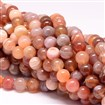 Natural Botswana Agate Beads Strands, Round, 8mm in diameter, hole: 1mm, approx 44~49 beads / strand
