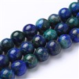 Synthetic Lapis Lazuli Chrysocolla Round Bead Strands, 8mm in diameter, hole: 1mm(G-L383-02-8MM)