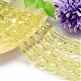 Faceted Drop Imitation Austrian Crystal Glass Bead Strands, Grade AAA, LightYellow, 8mm wide, 10mm long, hole: 1mm(G-PH0010-09-10x8mm)