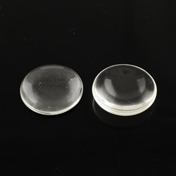 Transparent Flat Round Glass Cabochons, Clear, 15mm in diameter, 4mm thick